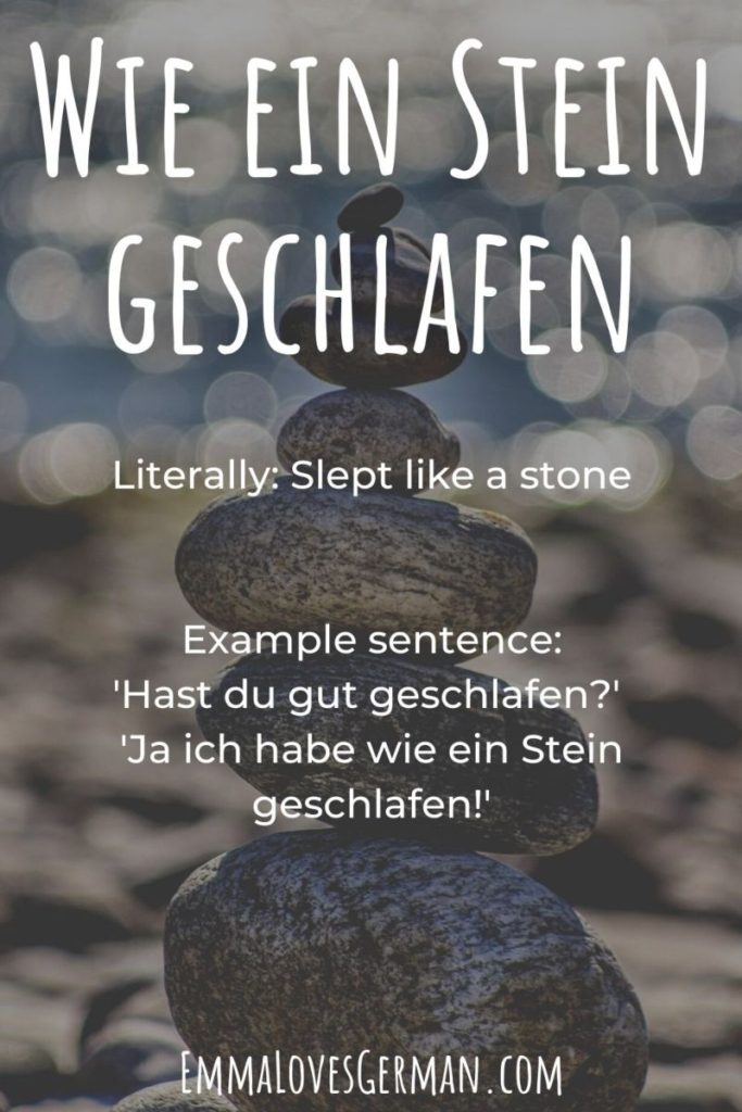 Wie ein Stein geschlafen