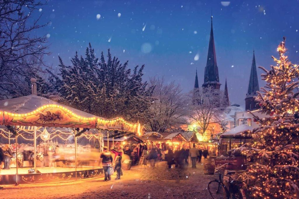 merry christmas german christmas market