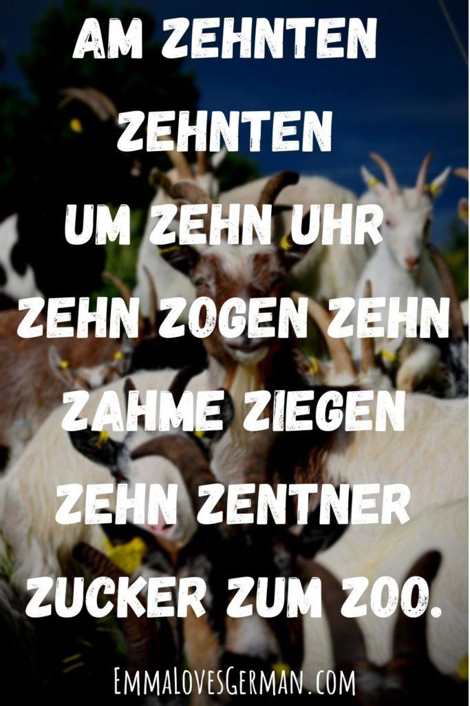 ziegen german tongue twister