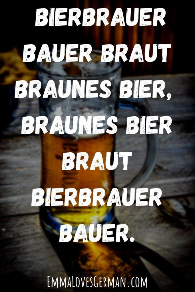 Bierbrauer german tongue twister