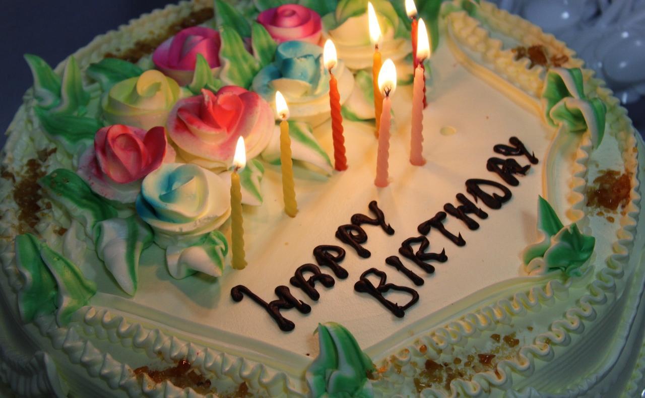 happy birthday in german birthday cake
