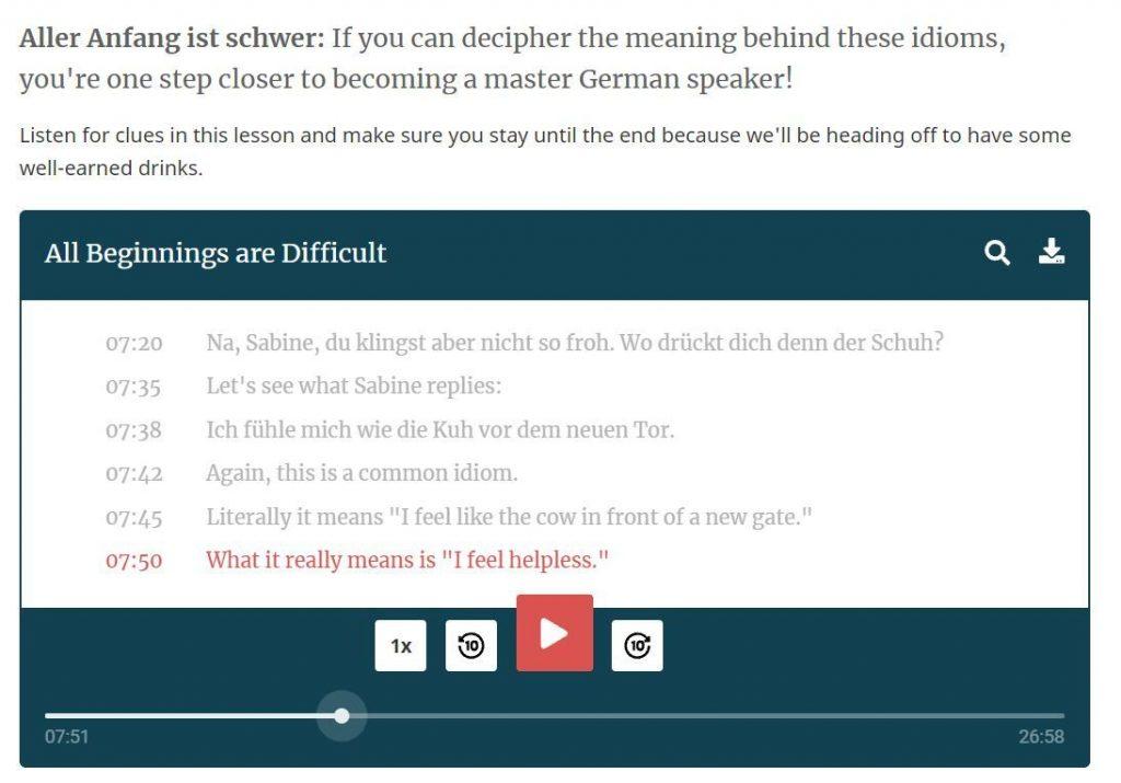 rocket languages audio lesson preview